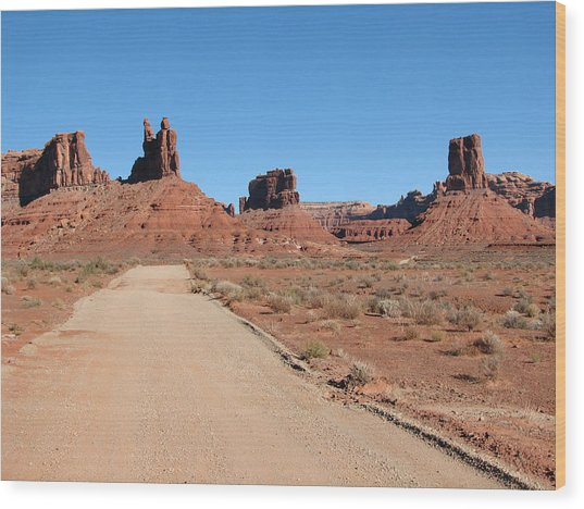Valley Of The Gods Wood Print