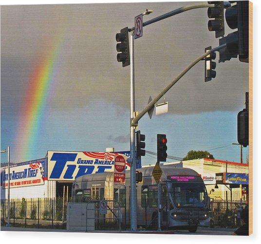 Valley Rainbow 2 Wood Print