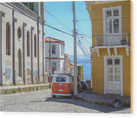 Valparaiso Chile Wood Print by Eric Dewar