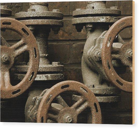 Valves Wood Print