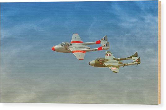 Vampire Jets Wood Print by Johan Combrink