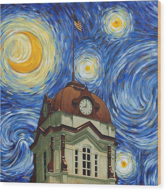 Van Gogh Courthouse Wood Print