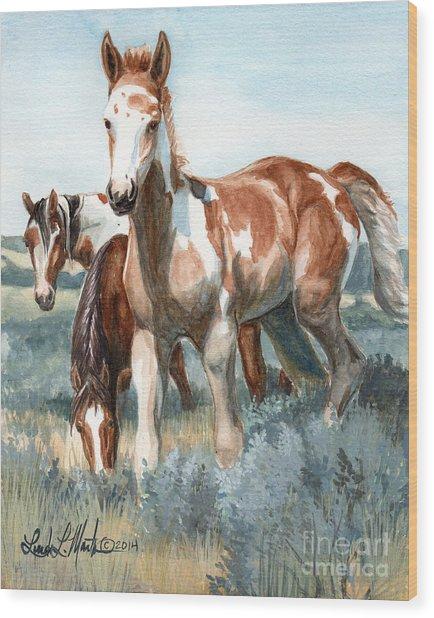 Van Gogh Of Sand Wash Basin Colorado Wood Print