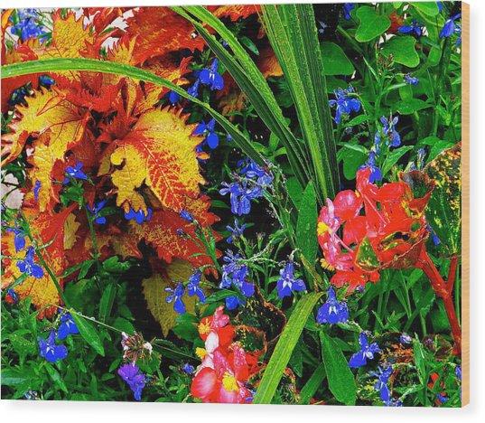 Van Gogh's Garden Wood Print