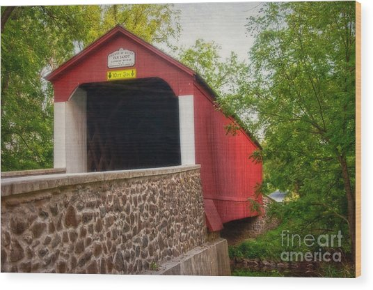 Van Sandt Bridge Wood Print
