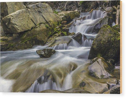 Van Trump Creek Mount Rainier National Park Wood Print