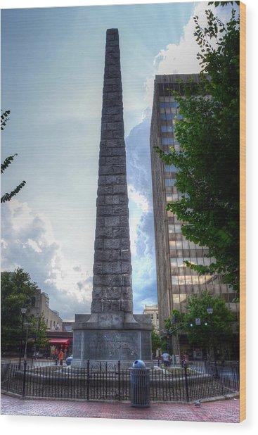 Vance Monument Asheville North Carolina Wood Print