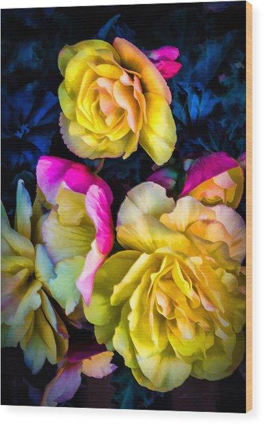 Vancouver Island Roses Wood Print