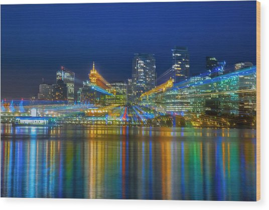 Vancouver Lights Wood Print