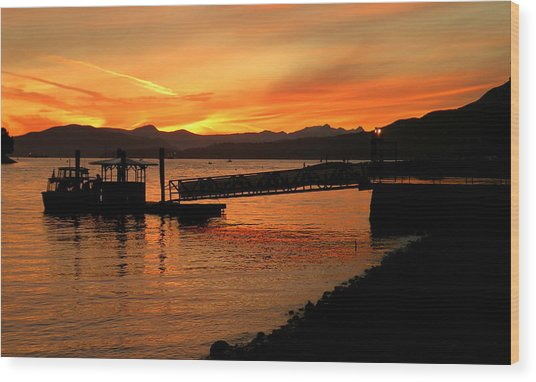 Vancouver Sunset Wood Print