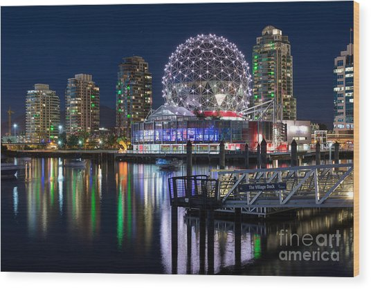 Vancouver Telus World Of Science - By Sabine Edrissi Wood Print