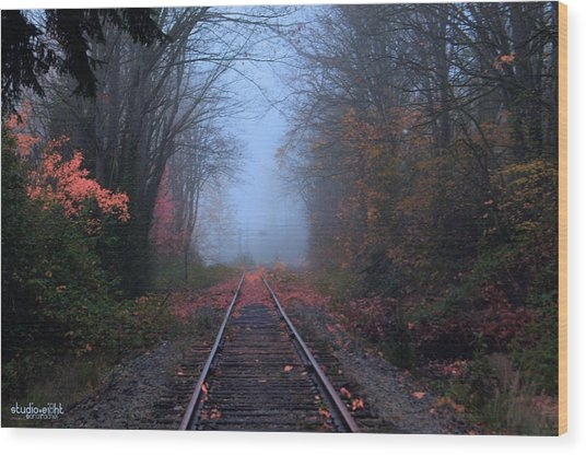 Vanishing Autumn Wood Print by Sarai Rachel