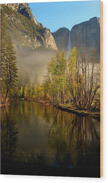 Vanishing Mist Wood Print