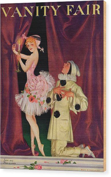 Vanity Fair Cover Featuring A Ballerina Wood Print