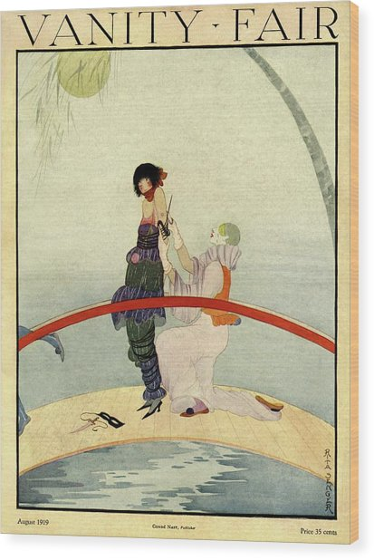 Vanity Fair Cover Featuring A Bound Woman Wood Print