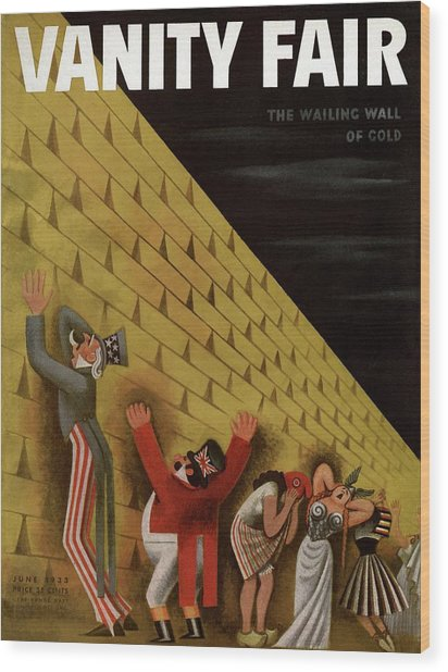 Vanity Fair Cover Featuring A Group Of Figures Wood Print by Miguel Covarrubias