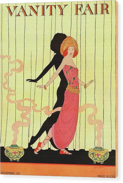 Vanity Fair Cover Featuring A Woman Onstage Wood Print by Sydney Joseph