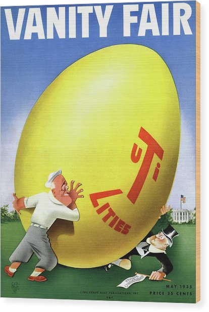 Vanity Fair Cover Featuring Easter Egg Rolling Wood Print by Paolo Garretto