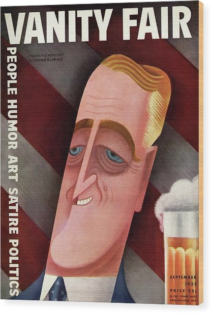 Vanity Fair Cover Featuring Franklin D. Roosevelt Wood Print