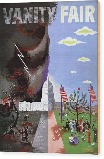 Vanity Fair Cover Featuring The Capitol Building Wood Print by Victor Bobritsky