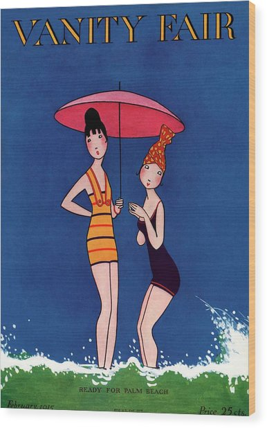 Vanity Fair Cover Featuring Two Women Standing Wood Print