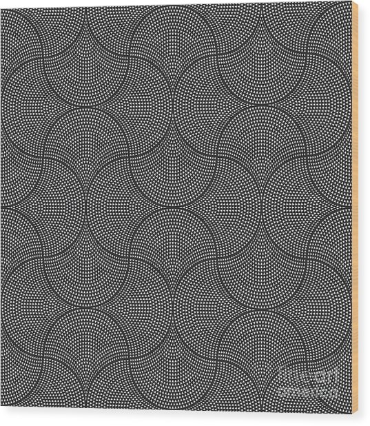 Vector Abstract Seamless Wavy Pattern Wood Print