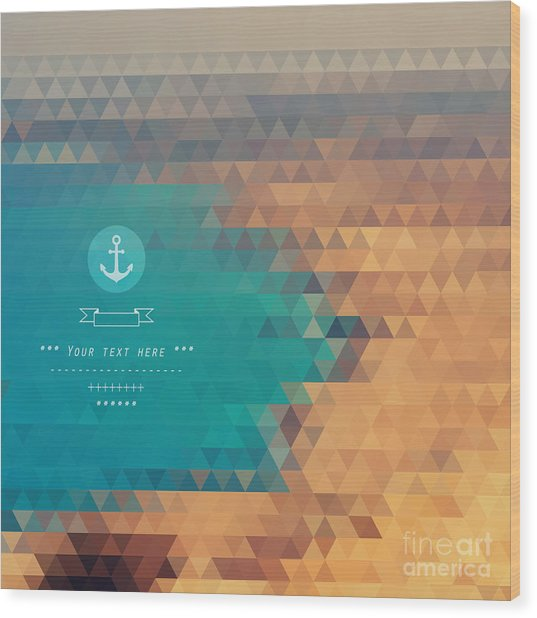 Vector Background Made Of Triangles Wood Print by Lera Efremova