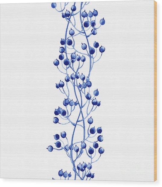 Vector Floral Watercolor Texture Wood Print