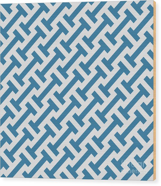 Vector Geometric Pattern. Seamless Wood Print