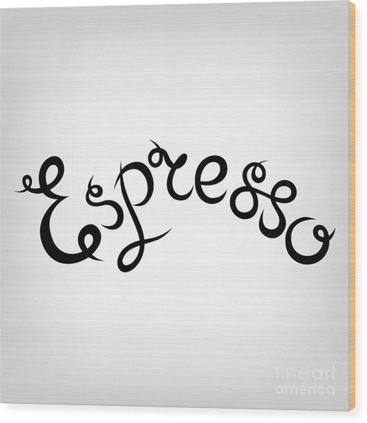 Vector Hand-drawn Cute Lettering Wood Print