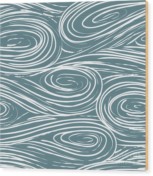 Vector Seamless Abstract Pattern, Waves Wood Print