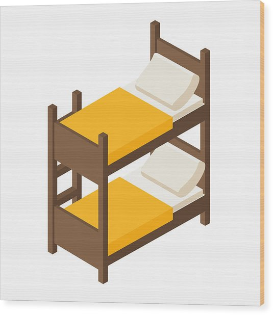 Groovy Vector Wooden Bunk Bed For Children In Isometric Gmtry Best Dining Table And Chair Ideas Images Gmtryco