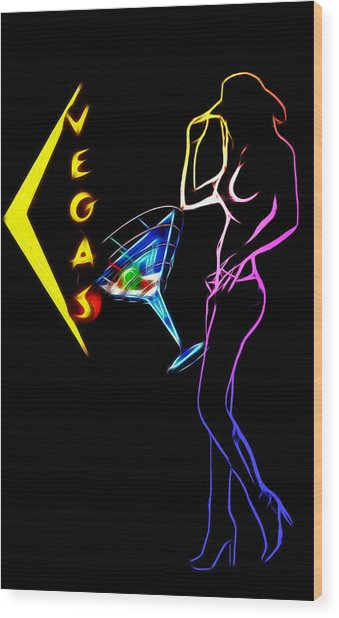 Vegas Girls Wood Print