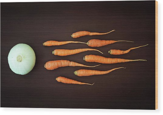 Vegetable Reproduction Wood Print