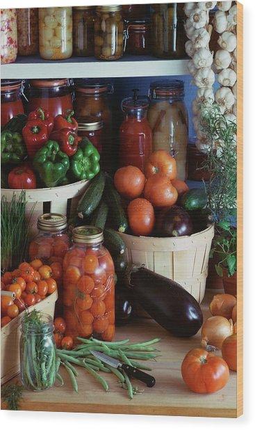 Vegetables For Pickling Wood Print