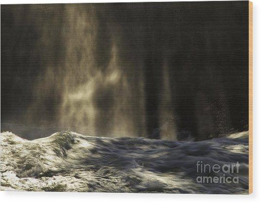 Veil Of Light And Mist Wood Print