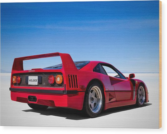 Veloce Equals Speed Wood Print