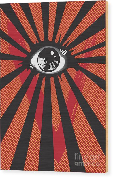 Vendetta2 Eyeball Wood Print