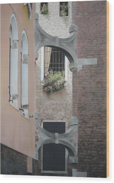 Venetian Buttresses - Pastel Wood Print