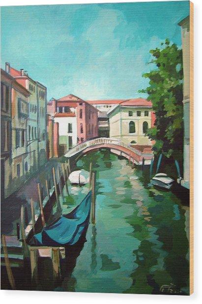 Venetian Channel 2 Wood Print by Filip Mihail