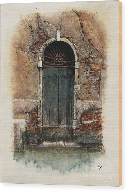 Venetian Door 01 Elena Yakubovich Wood Print