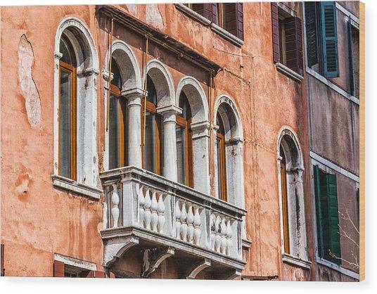 Venetian Houses In Italy Wood Print