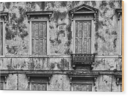 Venetian Windows Wood Print