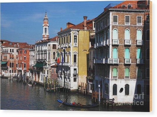 Venezia Colors Wood Print by John Rizzuto