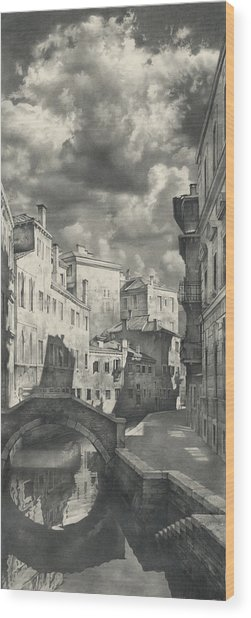 Venice. A View From The Other Bridge Wood Print