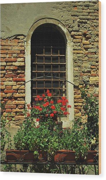 Venice Antique Window Wood Print