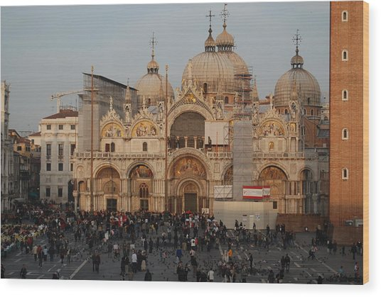 Venice At Sunset Wood Print