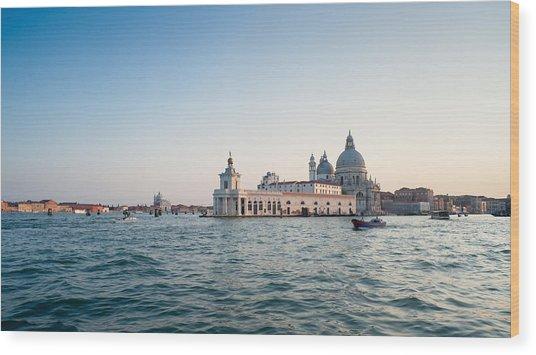 Venice At Sunset. Wood Print