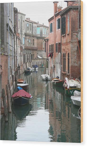 Venice Backstreets Wood Print