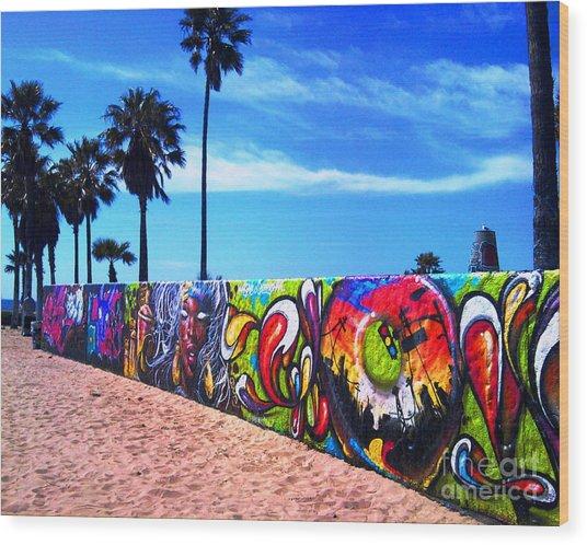 Venice Beach Flavor Wood Print